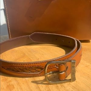 Vintage hand Crafted leather Levi's Belt & buckle